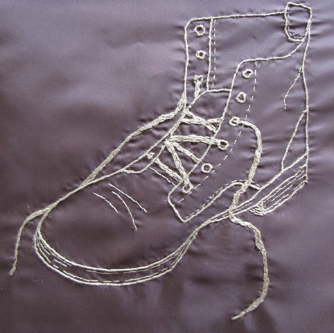 embroidered shoe Tamara Jelaca